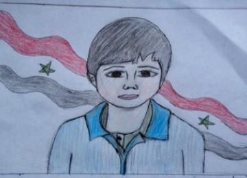 Lukisan wajah Hamza Ali al-Khateeb